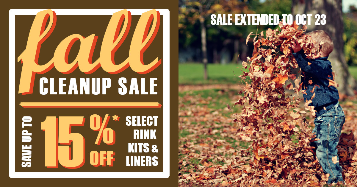 Ice N'Go Fall Cleanup Sale
